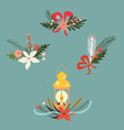Holiday design set vector image vector image