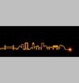jacksonville light streak skyline vector image