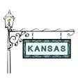 Kansas retro pointer lamppost vector image vector image