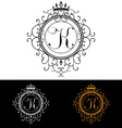 Letter K Luxury Logo template flourishes vector image