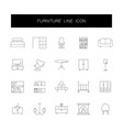 line icons set furniture pack vector image vector image