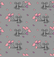 little bunny and balloons seamless pattern vector image vector image