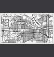 little rock usa city map in retro style outline vector image vector image