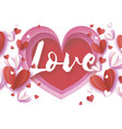 love text origami happy valentine s day greetings vector image