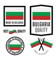 Made in Bulgaria label set vector image vector image