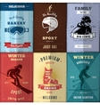 Nordic Skiing Posters Set vector image