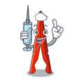 nurse clothes peg character cartoon vector image