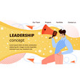 online business leadership flat web banner vector image