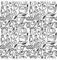 organic food doodle style seamless pattern vector image vector image