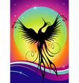 phoenix bird silhouette re-birth vector image