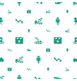 production icons pattern seamless white background vector image vector image