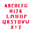 Red Alphabet hand drawn vector image