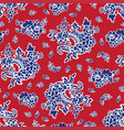 seamless background with a flower pattern vector image vector image