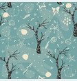 seamless winter pattern with hand drawn bear vector image vector image