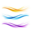 set color abstract wave design element vector image