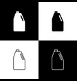set household chemicals blank plastic bottle icons vector image