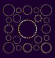 set of round decorative frame golden frame vector image