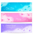 soap foam realistic banners vector image vector image