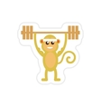 stylish paper sticker on white background monkey vector image vector image
