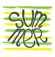 summer background green yellow vector image vector image