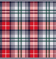 tartan seamless texture in red and light grey hues vector image vector image