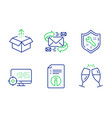 technical info seo and spanner icons set send vector image vector image