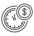 time is money icon outline style vector image