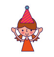 upperbody party girl cartoon vector image