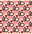 valentines day seamless pattern with wedding rings vector image vector image