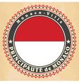 vintage label cards monaco flag vector image vector image