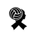 volleyball ribbon face vector image vector image