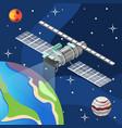 weather satellite isometric background vector image