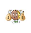 with money bag bambangan fruit cartoon character