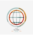 World globe logo stamp vector image