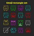 set of colorful emoticons emoji flat backgound vector image