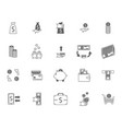 symbol of money finance currency black icons set vector image