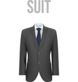 Suit isolated on white background vector image