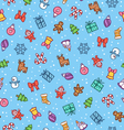 Christmas doodle pattern vector image