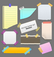 realistic blank note color paper with sticky tape vector image