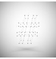 Three dimensional mesh stylish hashtag sign on