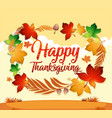 a happy thanksgiving card template vector image