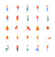 a icons pack of people in flat design vector image