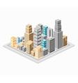 Background of the city vector image vector image