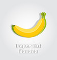 banana in papercut style paper cut poster vector image