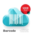 Barcode with cloud template vector image