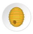 Beehive icon cartoon style vector image vector image