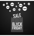 Black Friday shopping bag and sales vector image vector image