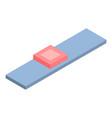 bookshelf icon isometric style vector image
