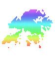 bright dotted hong kong map vector image vector image