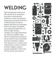 building works welding equipment toolkit weld vector image